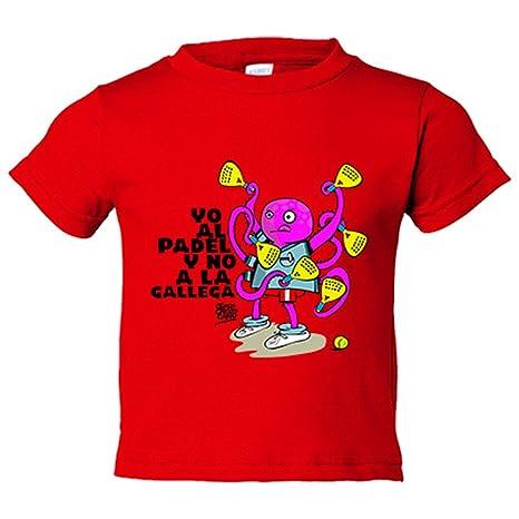 Camiseta niño yo al padel y no a la gallega - Rojo, 12-14 ...