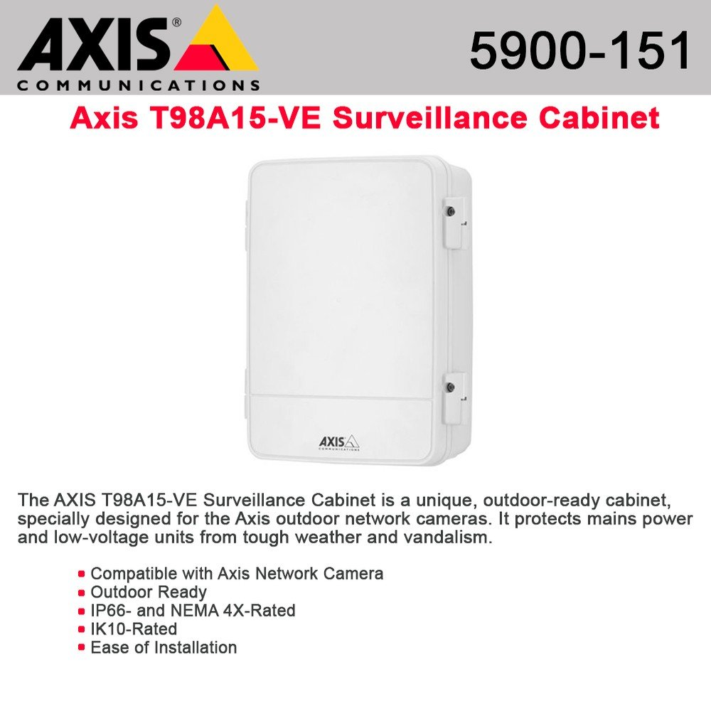 Axis Communications 5900-151 T98A15-VE - Wall mount cabinet - white