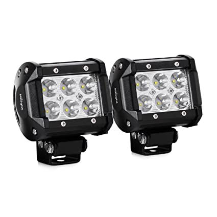 Amazon nilight led light bar 2pcs 18w 1260lm spot driving fog nilight led light bar 2pcs 18w 1260lm spot driving fog light off road led lights bar aloadofball Images