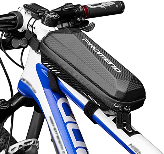 WILD MAN Waterproof Hard Shell Front Frame Bike Bag Large Capacity for Cycling Accessories Storage Suit for Road Mountain Cycling