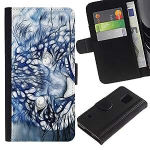 UNIQCASE - Samsung Galaxy S5 V SM-G900 - Mountain Lion Puma Painting - Cuero PU Delgado caso cubierta Shell Armor Funda Case Cover
