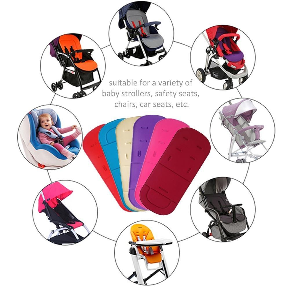 Baby Sitzauflagen Atmungsaktive Sommer Sitzeinlage Baby Sitzpolster Kinderwagen Einlagen Kinderwagen Set Atmungsaktive Universal Sitzauflage F/ür Kinderwagen Buggy Kindersitz Und Babyschale K/ühlt