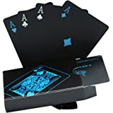 Cartes de poker étanches définies. Noir Conception Poker Carte professionnelle en plastique dans l'affaire Aluminium. Top qualité pour votre plaisir de poker.
