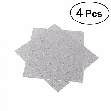 OUNONA 4pcs Mica de Placas Hojas de Microondas Horno Reparación 13 x 13cm