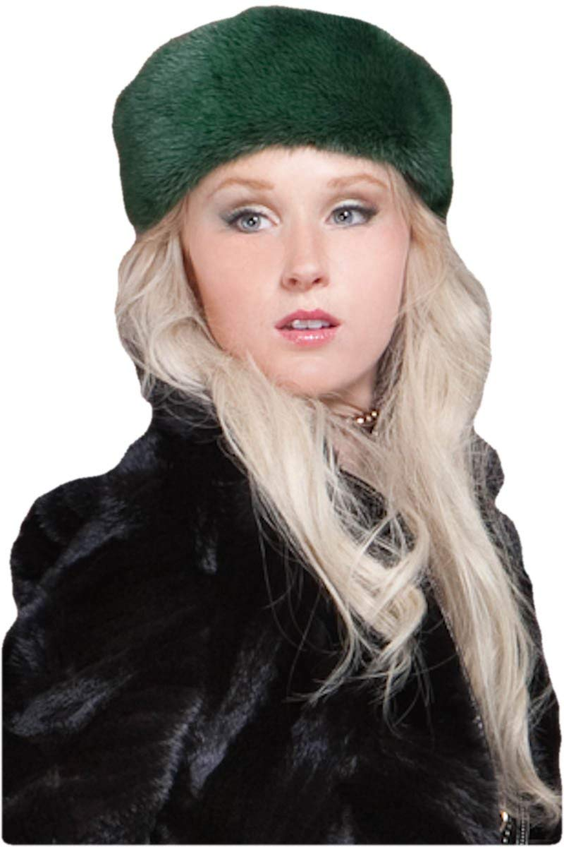 EM-EL Women's Green Mink Fur Headband
