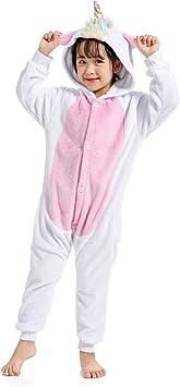 WhiFan Franela con Capucha Pijama Unicornio Animal Pijama ...