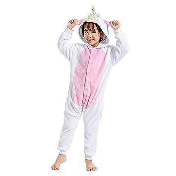 29a48746a9a WhiFan Franela con Capucha Pijama Unicornio Animal Pijama Entero Adulto  Niños Pijamas Unisexo Traje para Mujer Hombre Disfraz para Navidad   Amazon.es  ...