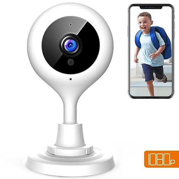 APEMAN 1080P Cámara IP WiFi, Cámara de Vigilancia con Visión Nocturna, Audio de 2 Vías, Detector de Movimiento Pan/Tilt, Grabador de Vídeo y Audio, ...
