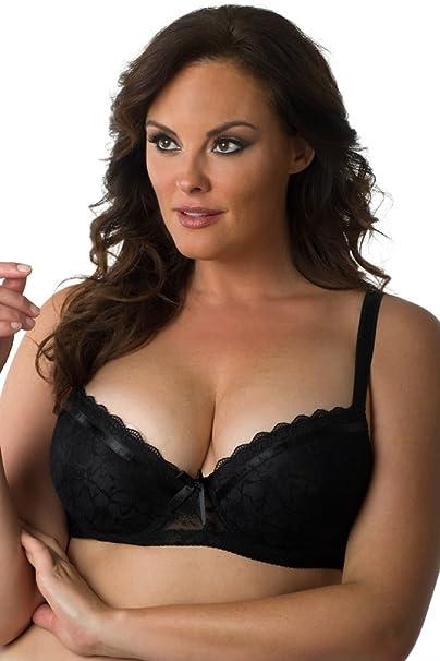 29f5acd910cde Velvet Kitten Women s Plus Size Lace Bra B24185X Black 34DD at Amazon  Women s Clothing store