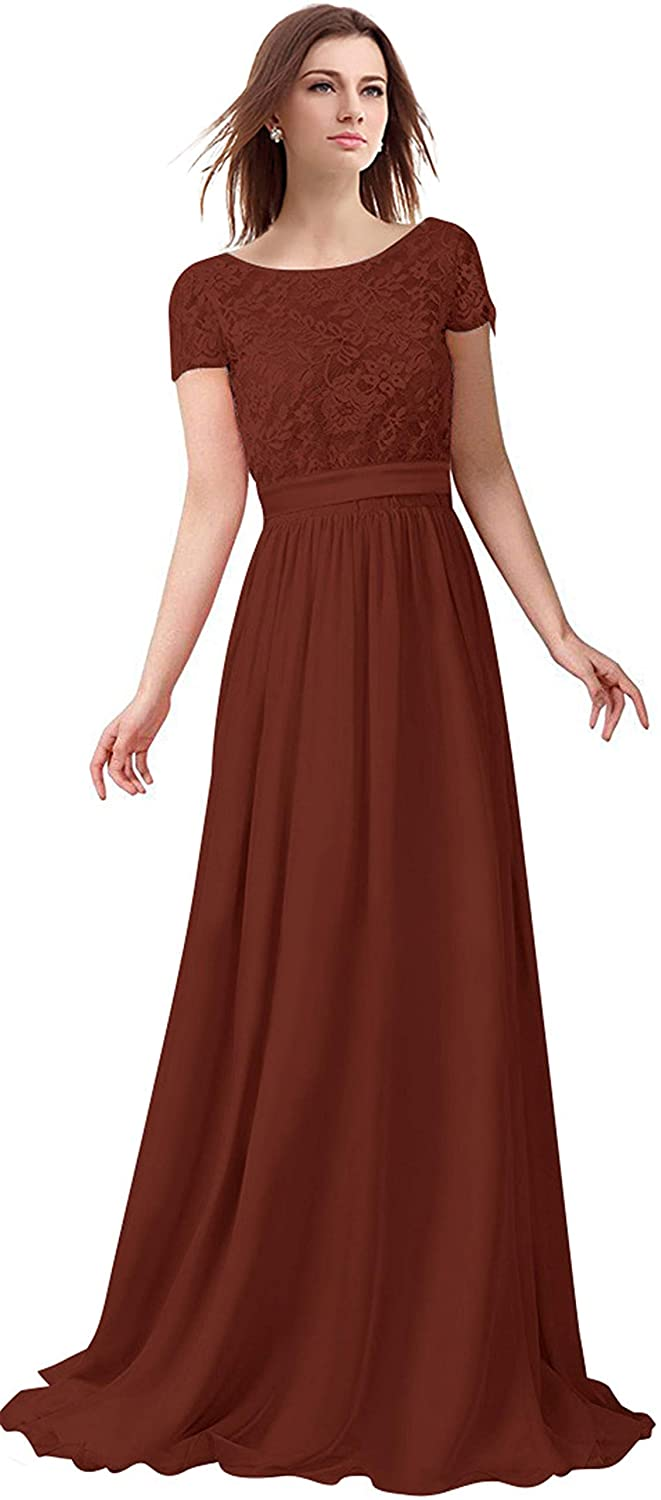 Dark Burgundy Lily Anny Short Sleeve Two Piece Set Mother of The Bride Dresses L230LF