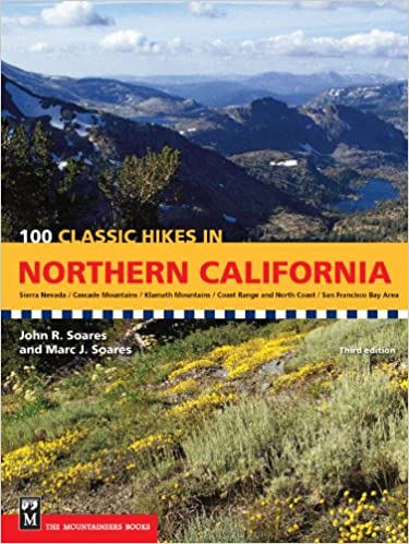 Northern California Map Of Mountain Ranges.100 Classic Hikes In Northern California Sierra Nevada Cascade