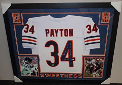 fe7819e1b26 Image Unavailable. Image not available for. Color: Walter Payton Signed  Bears 35x43 Custom Framed Jersey ...