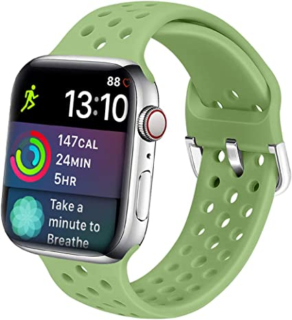 LITENG Band for Smart Watch Band 38mm 40mm Soft Silicone Breathable Sport Wrist Band Compatible with Smart Watch Series 4 Series 3 Series 2 Series 1 ...