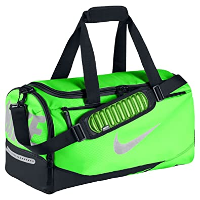 hot sale online 9e746 98ab8 New Nike Vapor Max Air Small Duffel Bag Voltage Green Black Metallic Silver