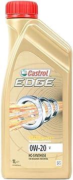 Castrol Motoröl Motorenöl Motor Motoren Öl Motor Engine Oil 0w 20 V Edge Titanium Benzin Diesel Hybrid 1l Auto