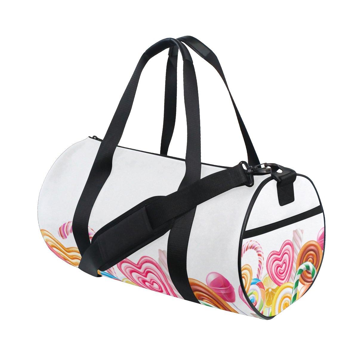 U LIFE Valentines Day Candy Heart Love You Summer Spring Wedding Sports Gym Shoulder Handy Duffel Bags for Women Men Kids Boys Girls