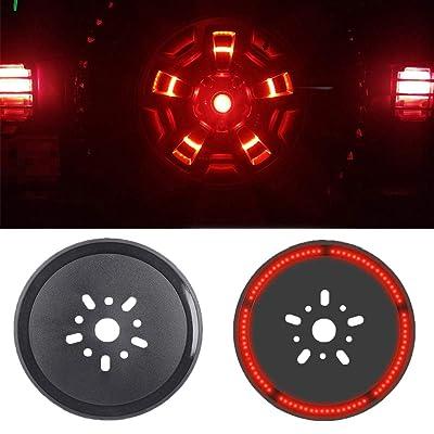 Spare Tire Brake Light Wheel Light LED 3rd Third Brake Light Lamp Ring for Jeep Wrangler 1997-2020 JK TJ LJ YJ CJ (JK): Automotive