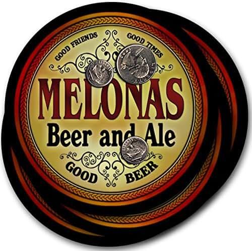 Melonas Beer & Ale - 4 pack Drink Coasters