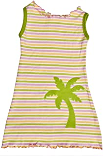 product image for Cheeky Banana Little Girls Palm Tree Cover-up/T-Shirt Dress Pastel Stripe
