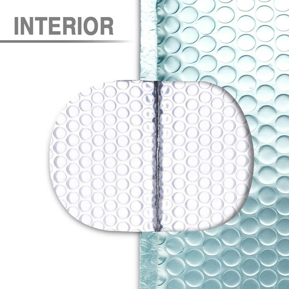 Switory Lot de 25 enveloppes /à bulles autocollantes pour CD Bleu glacier m/étallis/é Format A5 15,2 x 22,9 cm