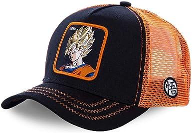 Capslab Gorra Goku Goku Negro Naranja Talla Única: Amazon.es: Ropa ...