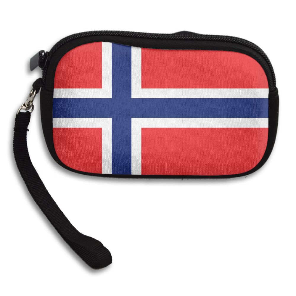 Norway Large Flag Deluxe Printing Small Purse Portable Receiving Bag