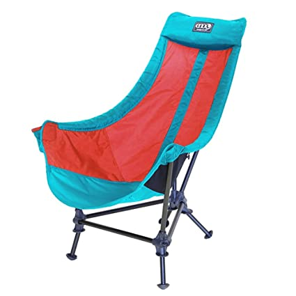 Eagles Nest Outfitters ENO Lounger DL Camping Chair, Outdoor Lounge Chair,  Aqua/Red