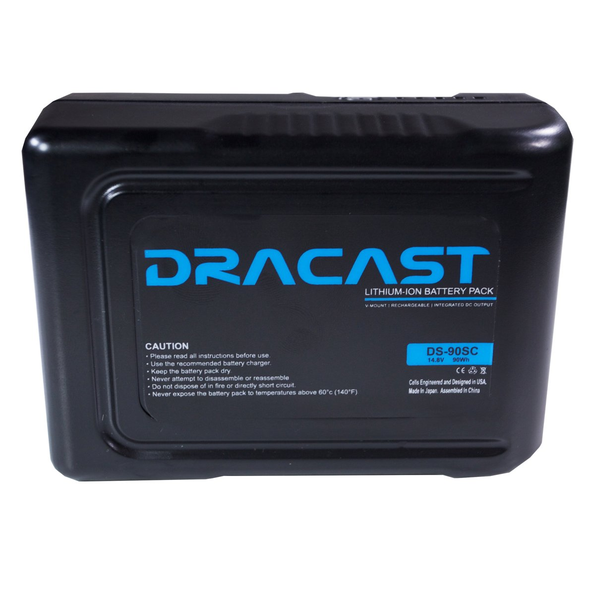 Dracast 90Wh 14.8V Compact Li-Ion V-Mount Battery, Black (BA-90SC) by Dracast