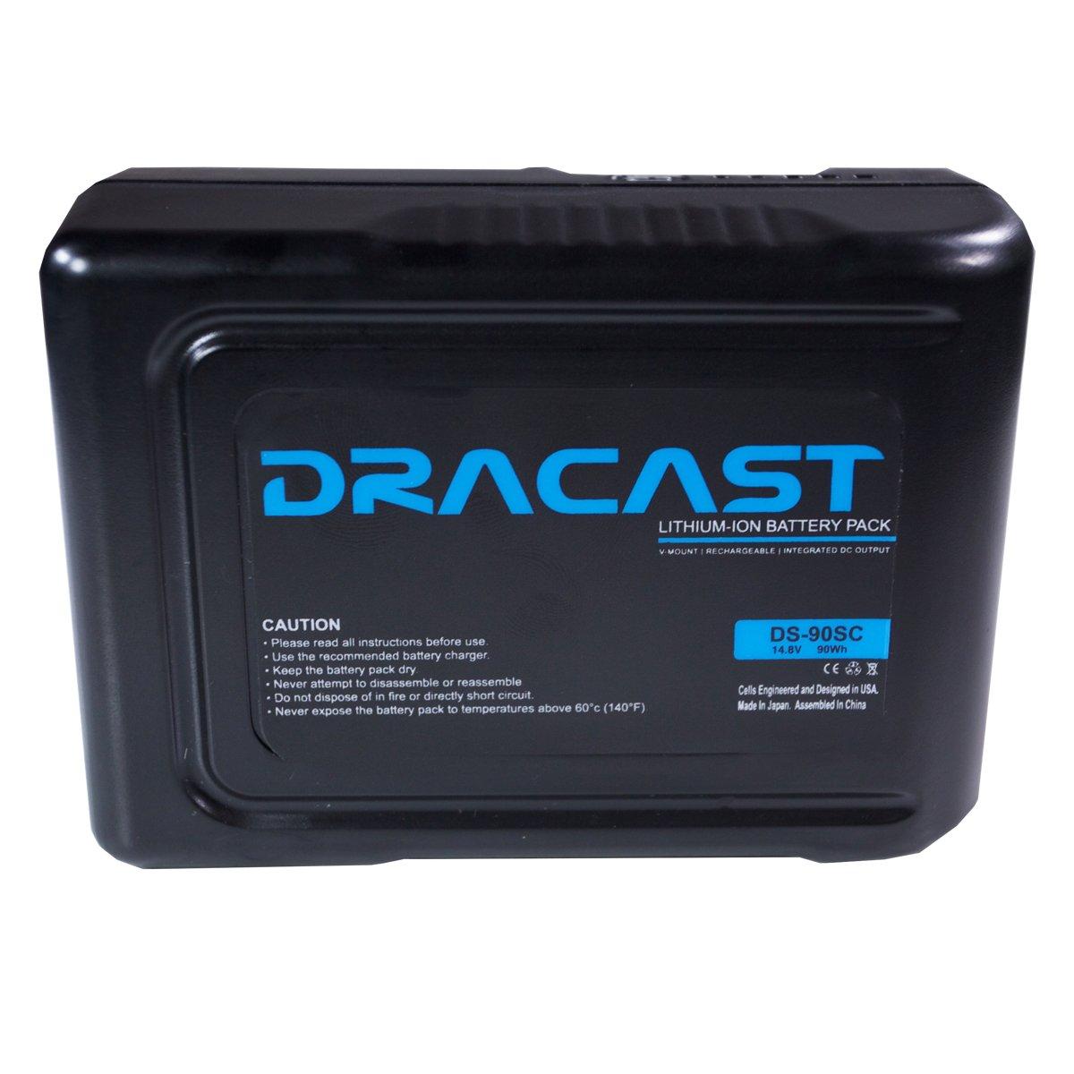 Dracast 90Wh 14.8V Compact Li-Ion V-Mount Battery, Black (BA-90SC)