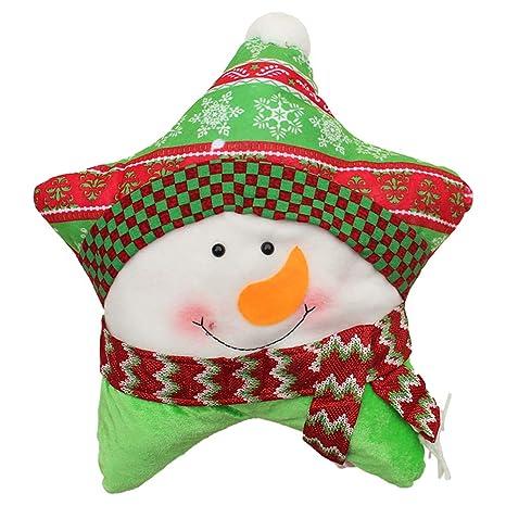 Lanzar Almohada Navidad cojín Decorativo Almohada para el hogar sofá decoración de Cinco Puntos Estrella en Forma de Regalo de cumpleaños de Navidad ...