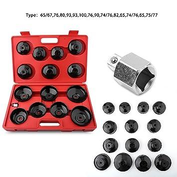 Gototop - Juego de llaves de vaso para filtros de aceite, llave para desmontar el
