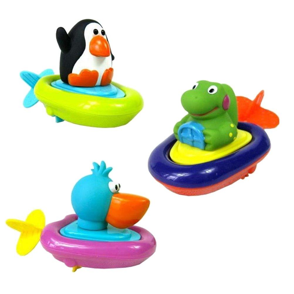 TOYMYTOY 3 unids tirar cadena animal juguetes de agua juguetes de ...