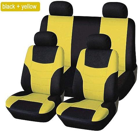 8pcs Auto Sitzbezüge Universal Schwarz Set Autositzbezug Schonbezug Sitzbezug Für Das Auto Sitzbezüge Autositz Schwarz Quiet T Auto