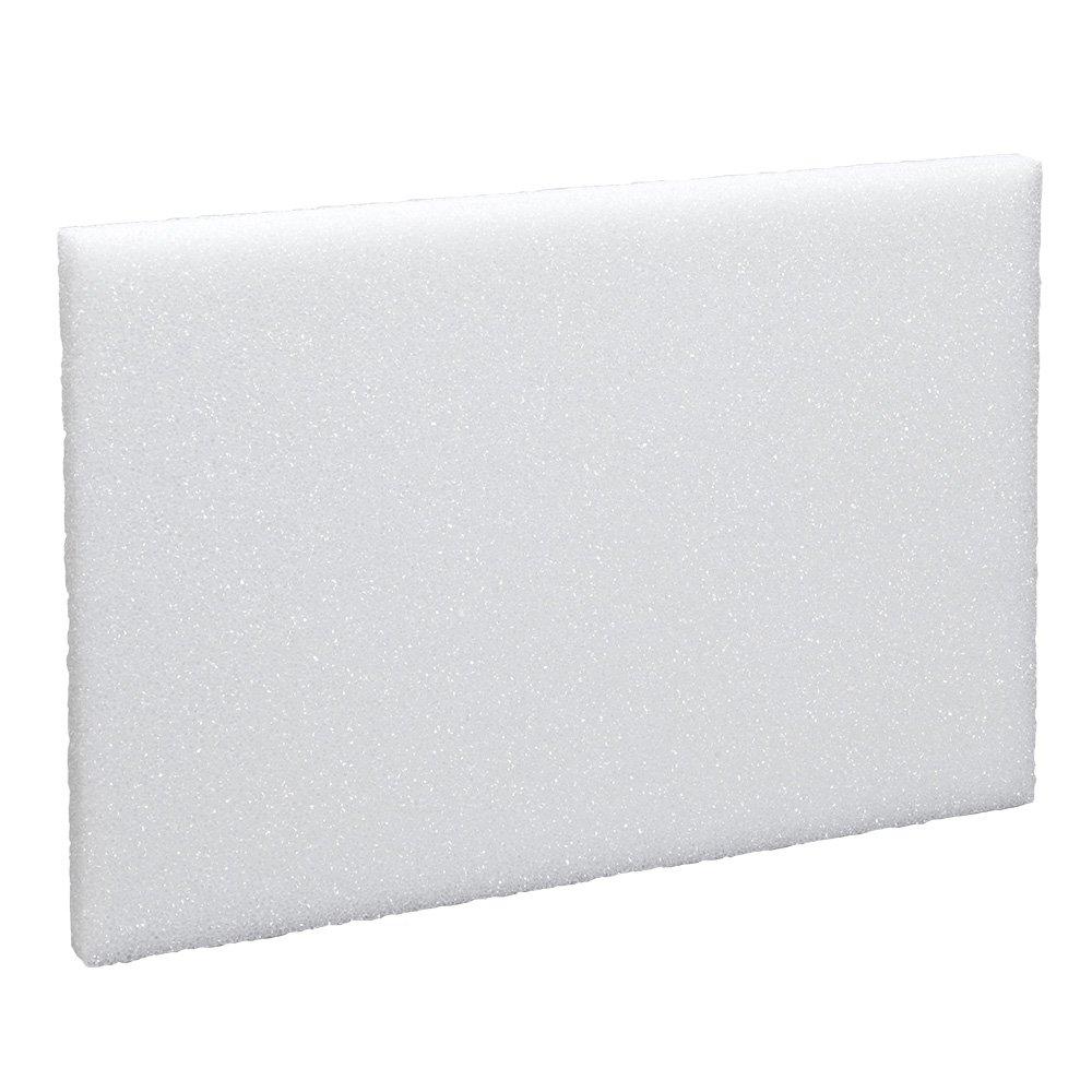 FloraCraft Styrofoam Block 0.9 Inch x 11.9 Inch x 17.9 Inch White B11218WS/20