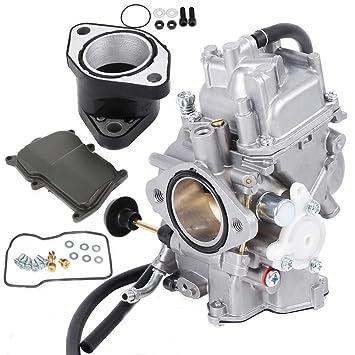 YFM350 Carburetor W Intake Manifold For Yamaha Big Bear Warrior Wolverine Moto 4 YFM 350 Yfm350 ATV Quad 1987 1998
