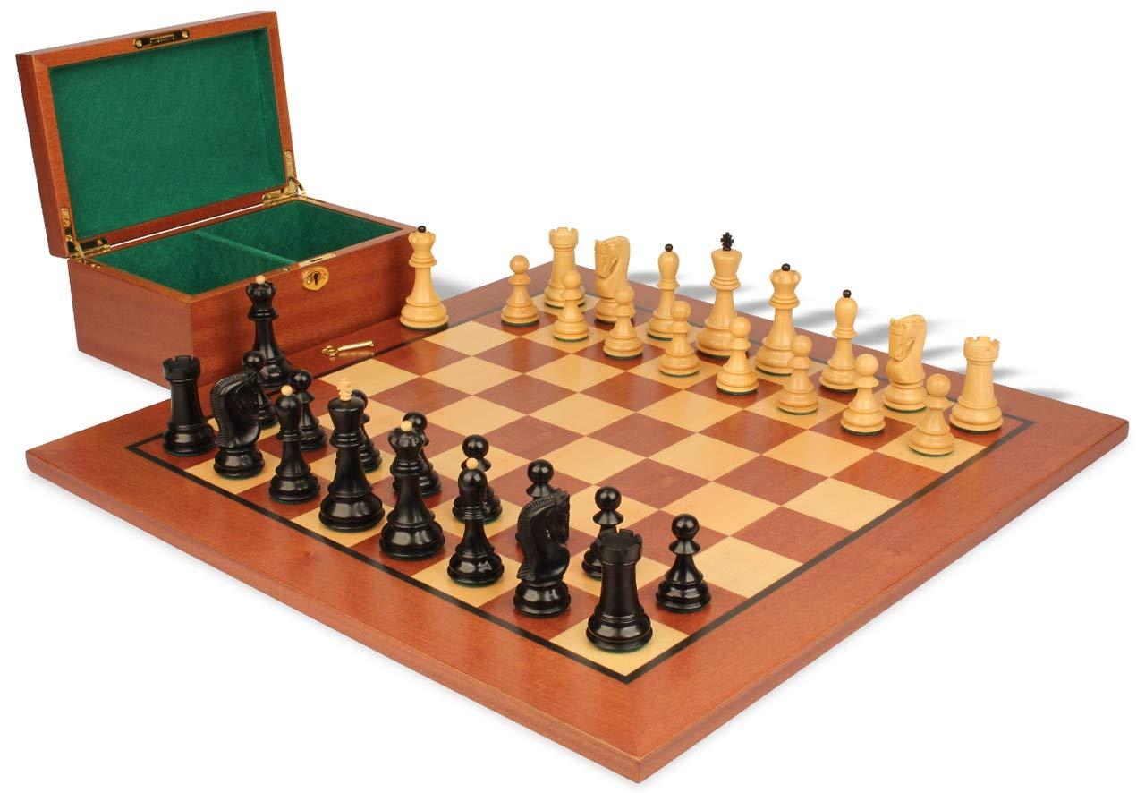 人気商品の Yugoslavia Stauntonチェスセットin Ebonized Boxwood