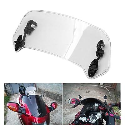 AQIMY Motorcycle Adjustable Clip On Windshield Extension Spoiler Windscreen Air Deflector for Honda BMW F800 R1200GS Kawasaki Yamaha: Automotive