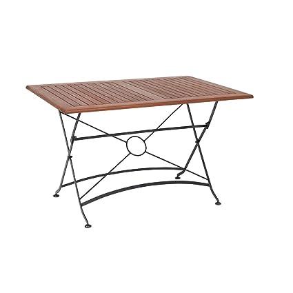 Balkon Tisch 120x80.Amazon De Greemotion Outdoor Klapptisch Borkum 120 X 80 Cm