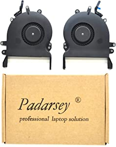 Padarsey Replacment CPU Cooling Fan 923-01471 Compatible for MacBook Pro Retina 15'' w/Touch Bar A1707 Left + Right 2016 2017