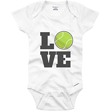 217514e93 Amazon.com: Tennis Baby Loves The Sport: Infant Gerber Onesie: Clothing