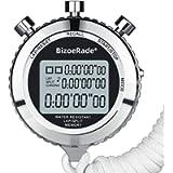 BizoeRade Silent Stopwatch, Metal Digital Sports Stopwatch with Countdown Timer, 100 Lap Memory, Large Display, Alarm…