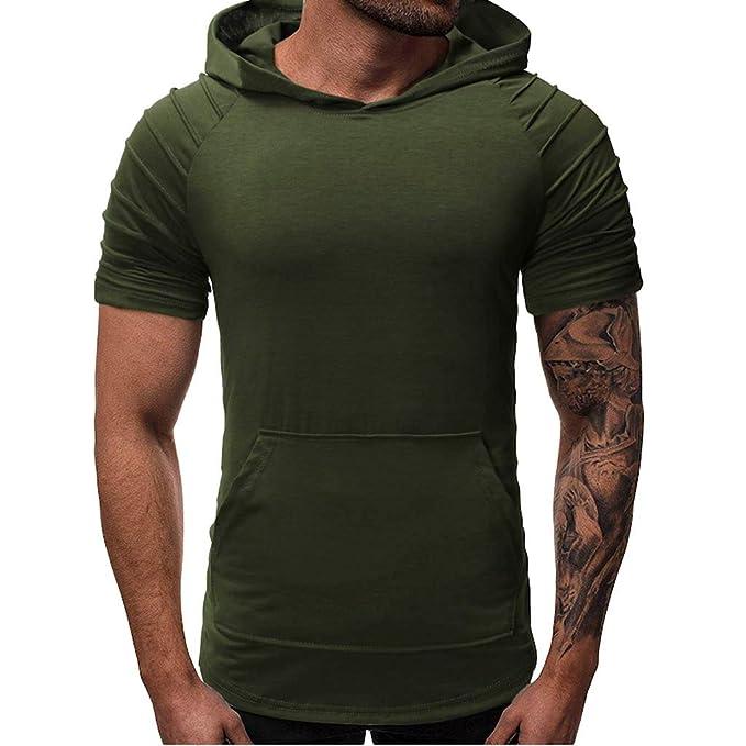 Jmwss QD Mens Regular Fit Short Sleeve Striped Linen Cotton Botton Front Woven Shirt