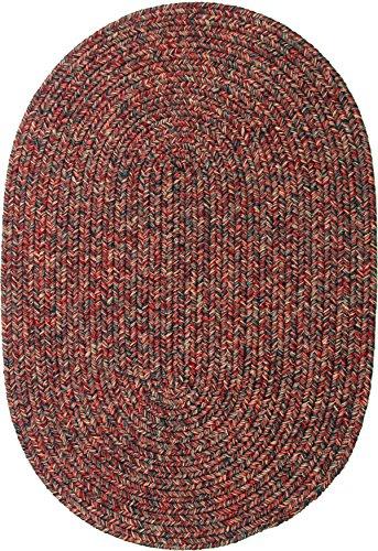 - Sabrina Tweed Indoor/Outdoor Oval Braided Rug, 2 by 3-Feet, Sangria