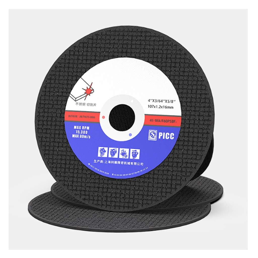 105mm/4'' Saw Blade Resin Cutting Disc Cut Off Wheel Angle Grinder Disc Slice Fiber Reinforced For Metal Stainless Steel (Color : Black, Quantity : 25) by Yoyo-Metal Saw Blade