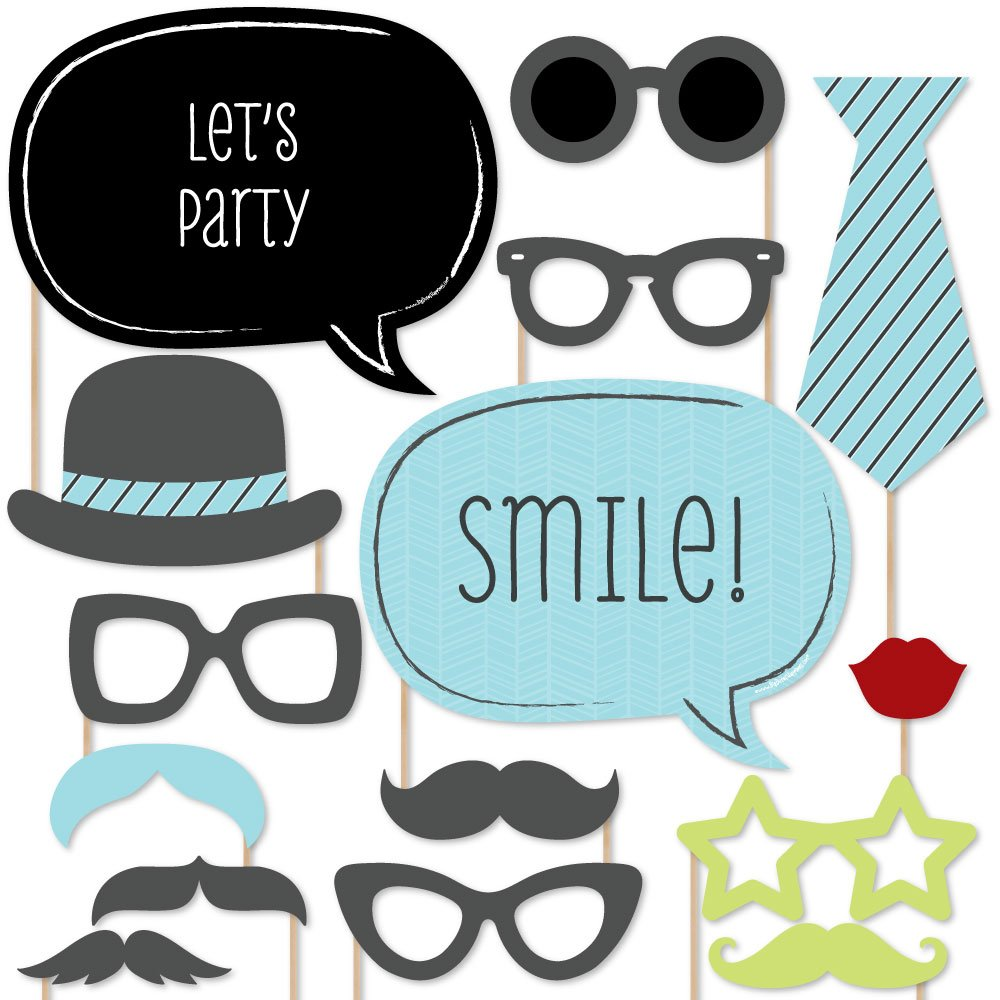 Big Dot of Happiness Dashing Little Man Mustache Party - Photo Booth Props Kit - 20 Count by Big Dot of Happiness