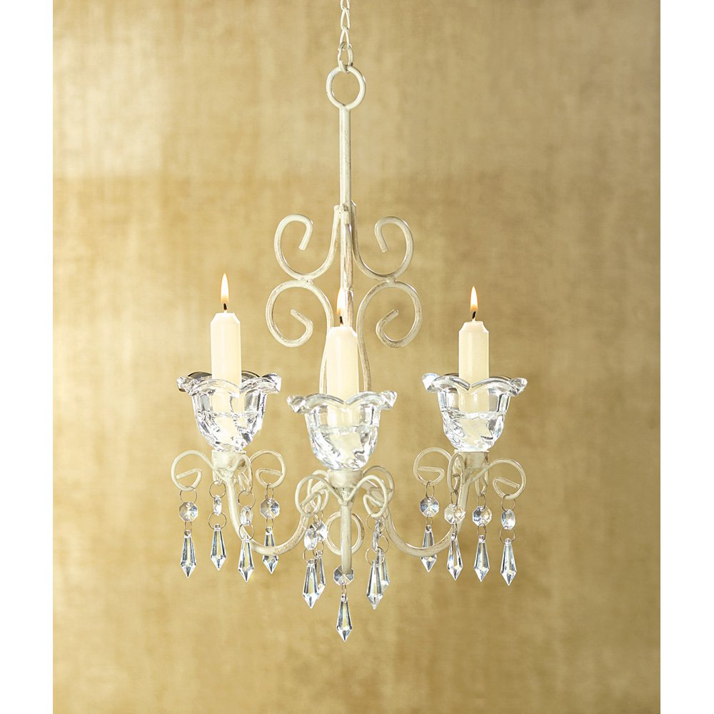 amazoncom wholesale lot of 10 shabby crystal scroll chandelier candle holder chic misc home improvement - Shabby Chic Chandelier