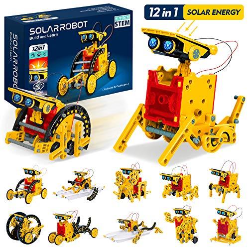 KOOQII 업그레이드 줄기 12 개에는 1 육 태양로봇 장난감 태양 및 셀 강화 2 1DIY 건물을 배우는 과학 실험 키트를 위한 세 아이며 8-12 이전