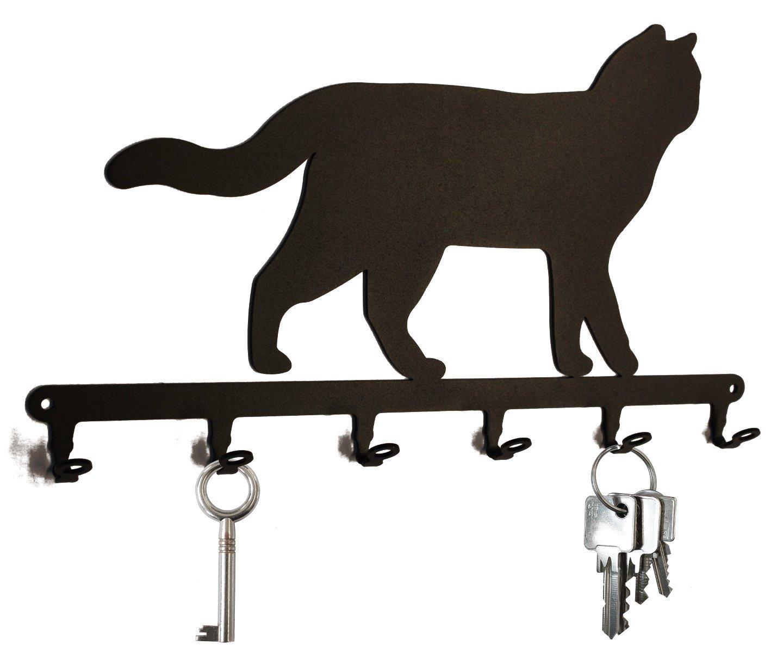 Brit/ánico de Pelo Corto * 6 ganchos Llave Board Gato Tabla//Colgador de llaves