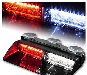 XT AUTO Car 16-led 18 Flashing Mode Emergency Vehicle Dash Warning Strobe Flash Light Red White