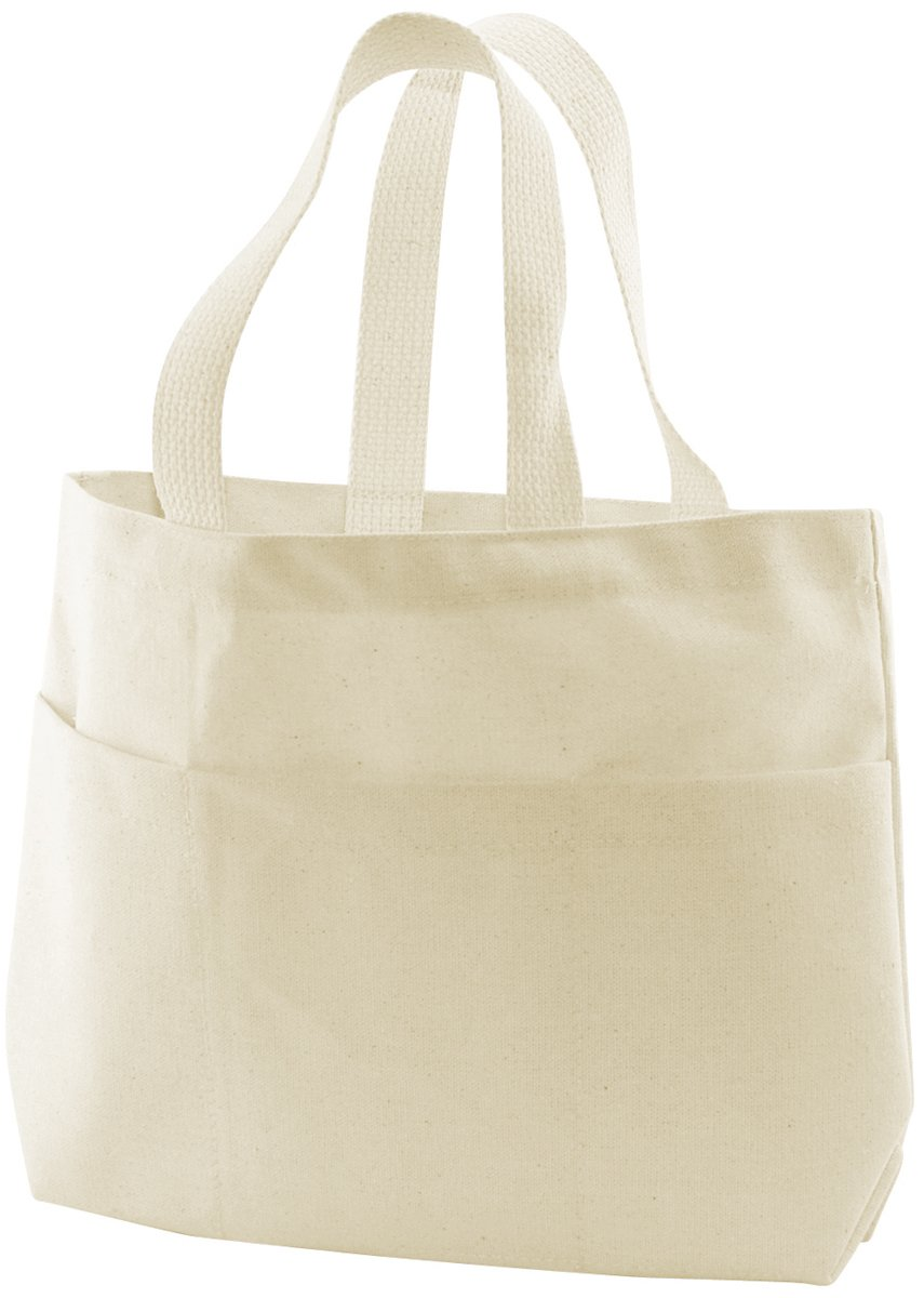 18d0f9351 Amazon.com: Canvas Small Pocket Tote Bag 9